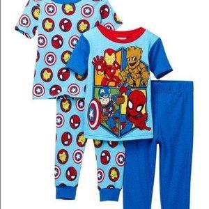 NWT Marvel Superheroes Cotton PJ's - Set of 2
